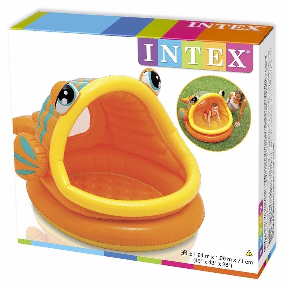 Piscina intex inflable tipo pez bebes techo nuevo bs f for Piscina inflable intex para bebe