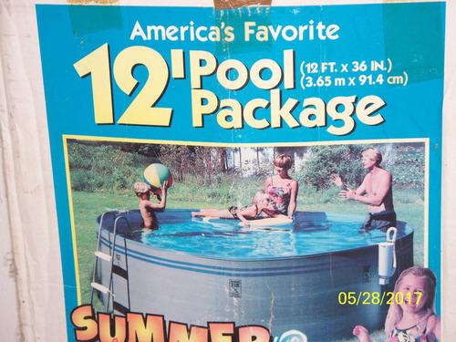 piscina de 8 mil litros de segunda con todos sus accesorios