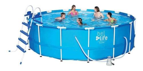 piscina de armação bel lazer 16000 litros 110 v + kit