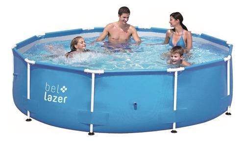 piscina de armação redonda 5000 litros c/ kit reparo belfix