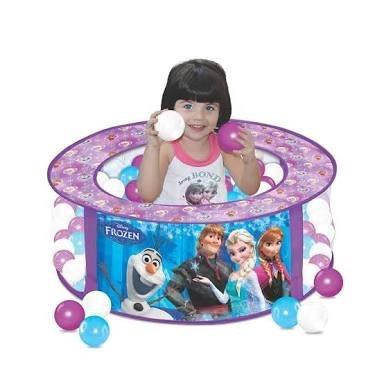 piscina de bolinha frozen - líder brinquedos