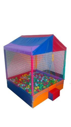 piscina de bolinhas 2x2m c/2000 + cama elástica 2,44m