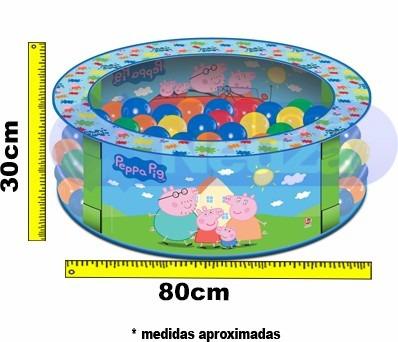 piscina de bolinhas peppa pig com 100 bolinhas george lider