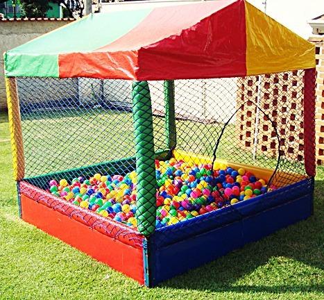 piscina de bolinhas playground infantil 1,5x1,5 mts imediato