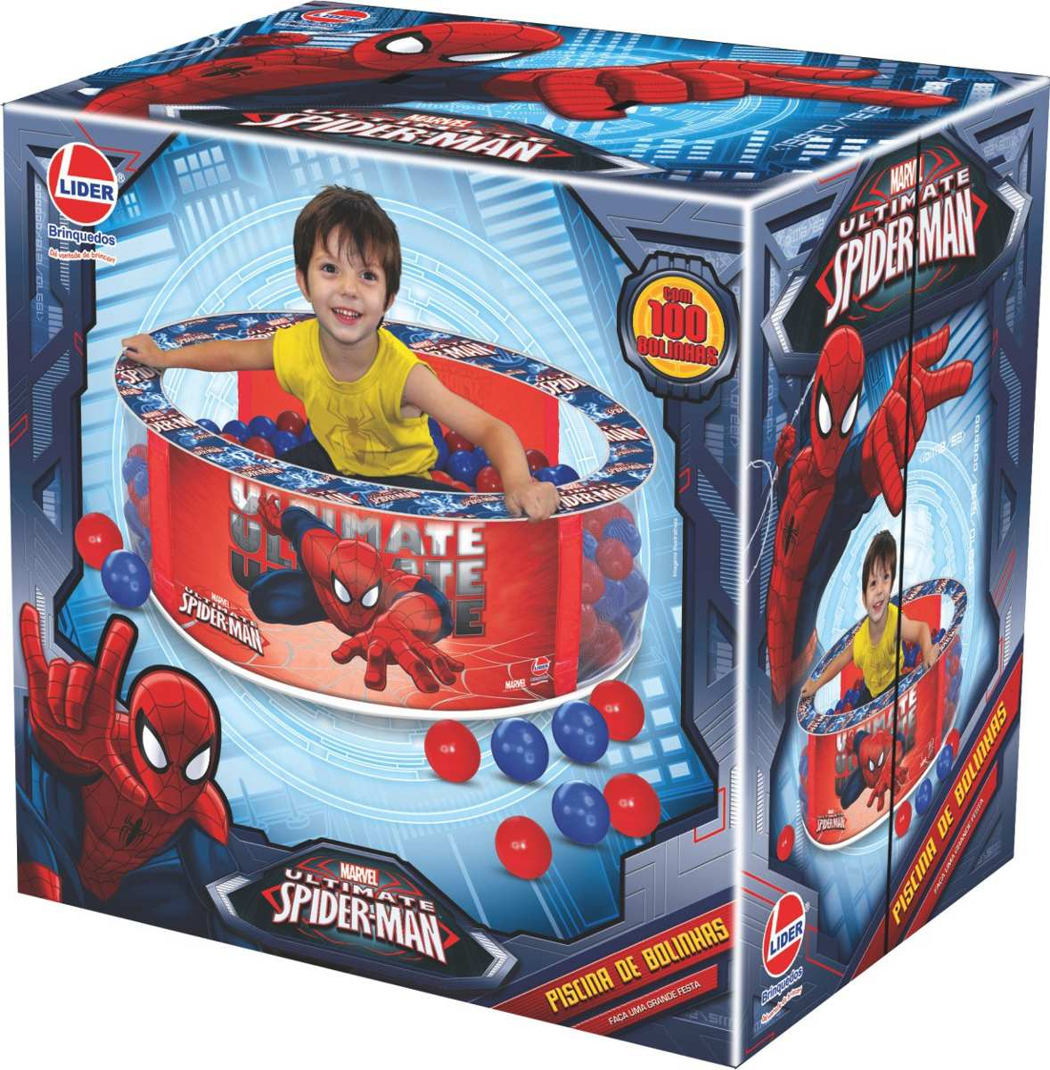 ba1c0d3f05 piscina de bolinhas spider man infantil homem aranha - líder. Carregando  zoom.