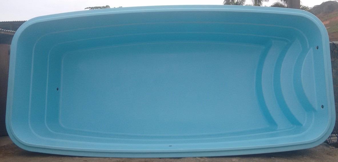 Piscina de fibra litros completa pronta para for Piscina 7 mil litros