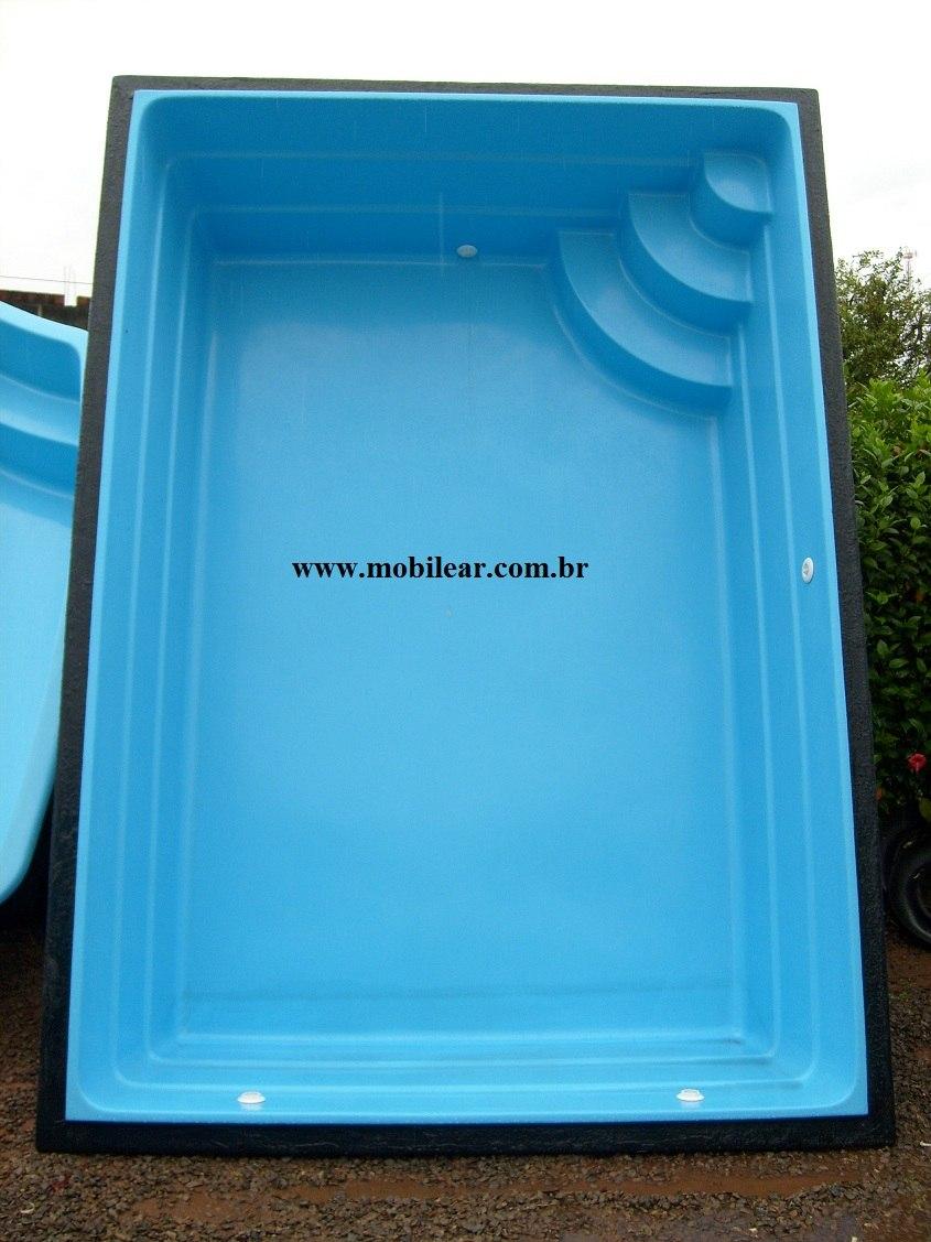 Piscina de fibra litros tamanho 3 40 x 2 40 x 0 90 for Vendo piscina de fibra