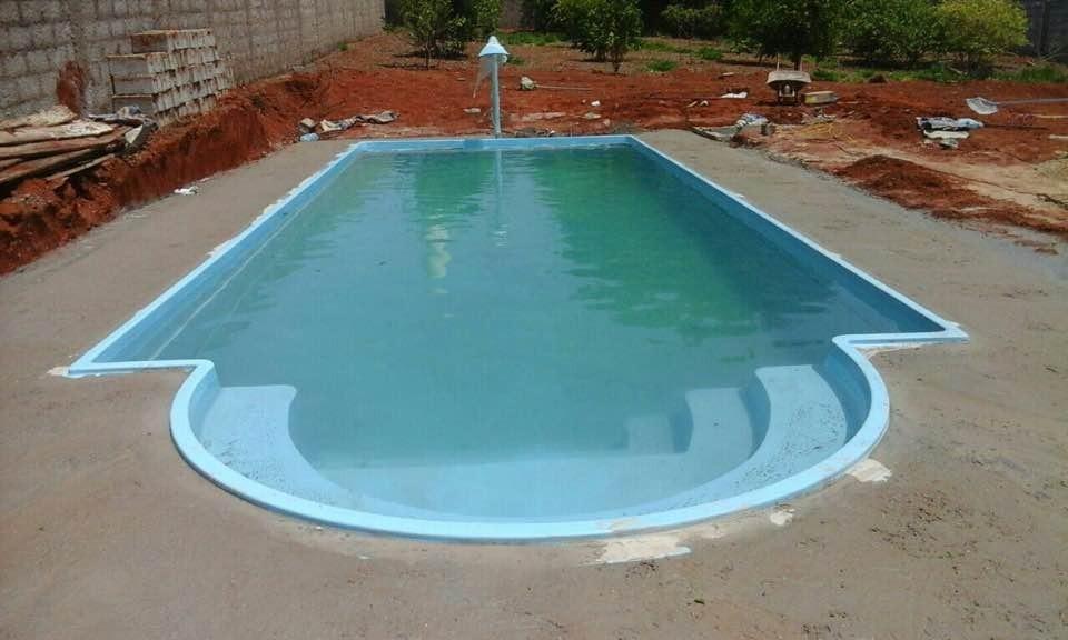 piscina de fibra ya instalada
