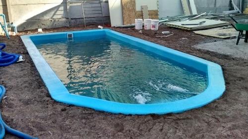 piscina de fibra de vidrio 8x3.1mt temporada baja