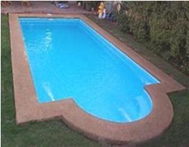 Piscina de fibra de vidrio modelo cahuelm rectangular for Modelos de piscinas en chile