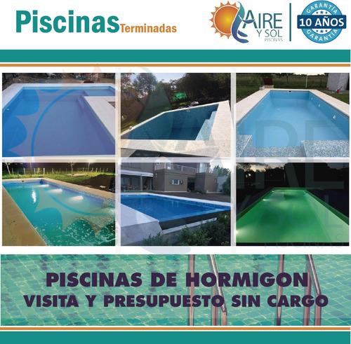 piscina de hormigon 8x4 $233.000 lista funcionando!!!!!!