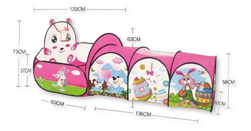 piscina de pelotas - túnel portátil para niños envío gratis