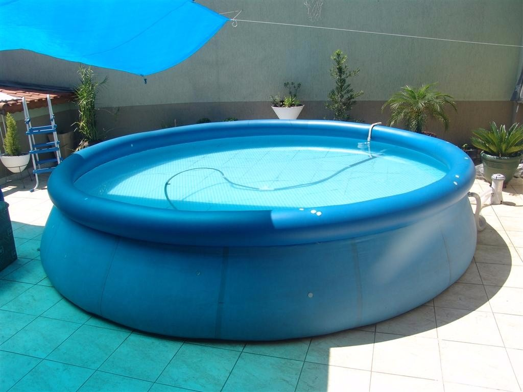 Piscina de plastico intex litros acess rios r for Alberca intex redonda
