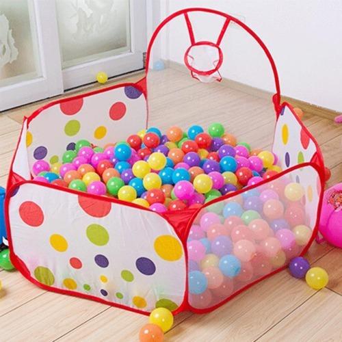 piscina de tela + 50 pelotas plasticas de 7 cm/ piscina bebe