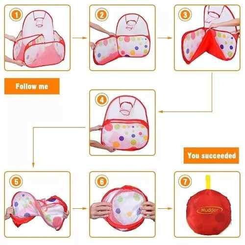 piscina de tela para pelotas plasticas (no incluye pelotas)m