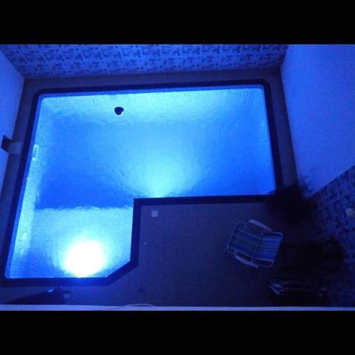 piscina de vinil - 3 x 6 x 1,40m com banco 1,5x1,5x0,6m