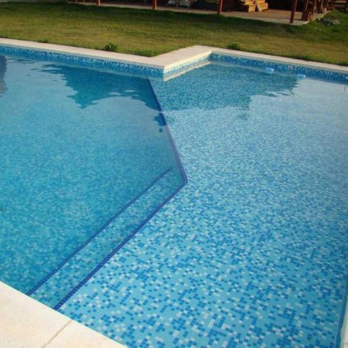 piscina en homigon.  8 x 4