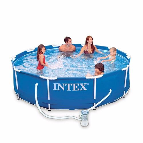 piscina estructural intex casa finca 28201  3mt x 76cm filtr