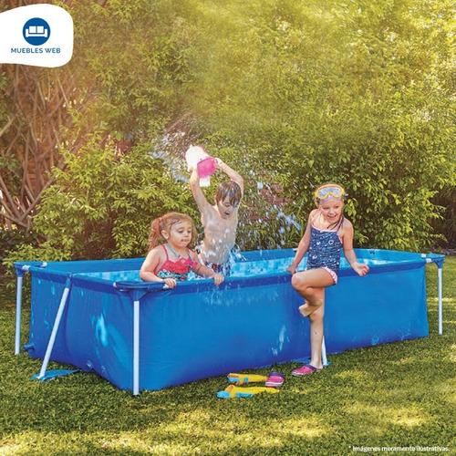 piscina estructural rectangular azul 693 lts.