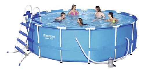 piscina estructural redonda 16015lts c/filtro escalera tapa