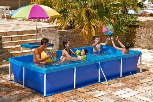 piscina estruturada 3000 litros com capa e forro mor