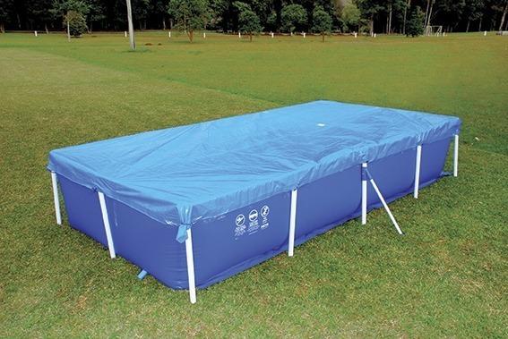 Piscina estruturada 3000 litros com capa e forro mor r for Calcular litros piscina