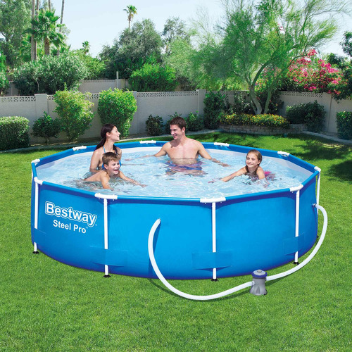 piscina estruturada 4.678l steel pro frame pool set 3.05m