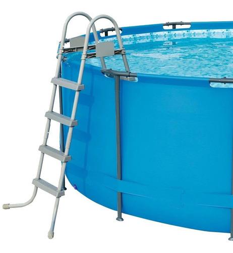 piscina estruturada bestway 16.015 litros com escada