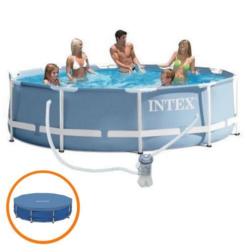 piscina estrutural 6503 litros armação capa filtro 110 intex