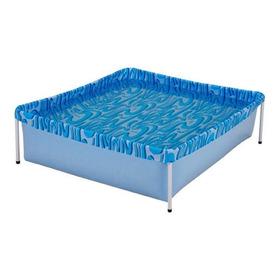 Piscina Estrutural Azul Mor 001000 De 400 Litros Retangular 1.15m De Comprimento X 1.06m De Largura
