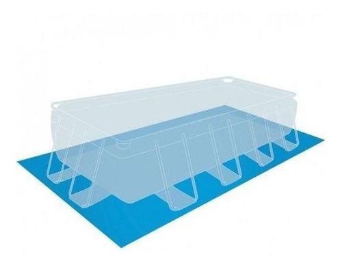 piscina estrutural retangular 10.874 l completa 110v - intex