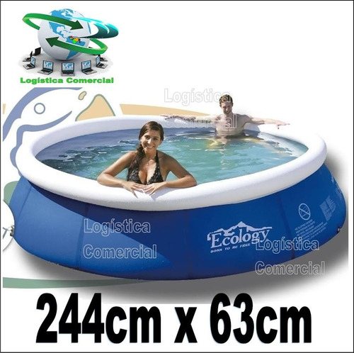 piscina familiar inflable 244 cm x 63 cm ecology 13301