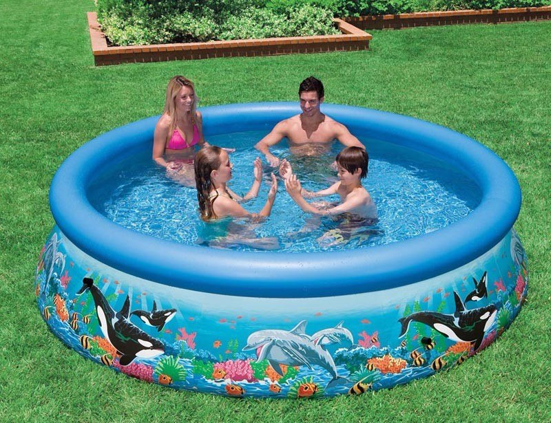 piscina familiar inflable 305 x 76cm intex bs