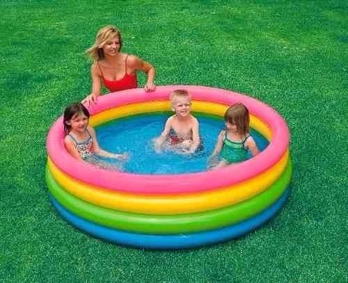 piscina familiar inflable intex 168cm 4 aros original 56441*