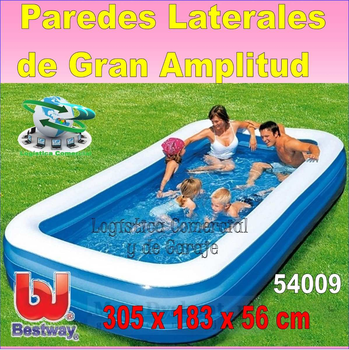 Piscina familiar rectangular 3anillos bestway 305x183x56cm bs en mercado libre - Piscine in plastica ...