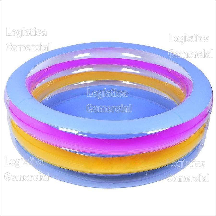 Piscina familiar redonda anillos bestway 196x53cm 51029 for Piscinas montables