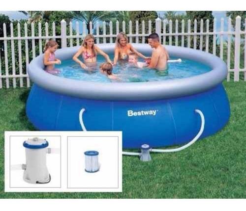 piscina fast set 3.638 litros + bomba filtrante+refil
