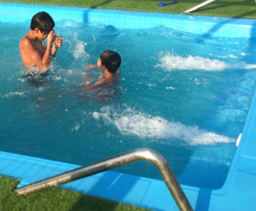 piscina fibra 6.20x3.10 + kit instalacion cel +56945821491