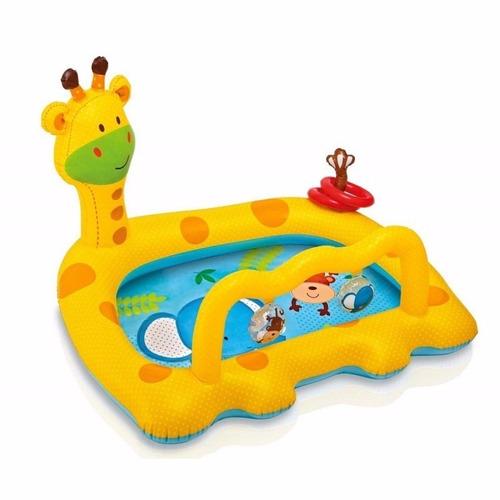 piscina gimnasio inflable jirafa intex 57105 con sonajeros