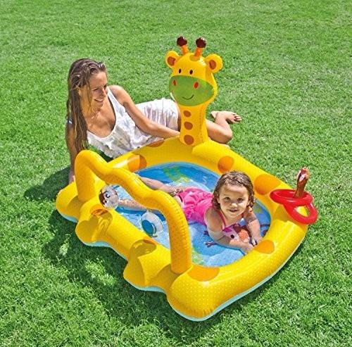 piscina gimnasio inflable jirafa intex 57105 sonajeros bebes