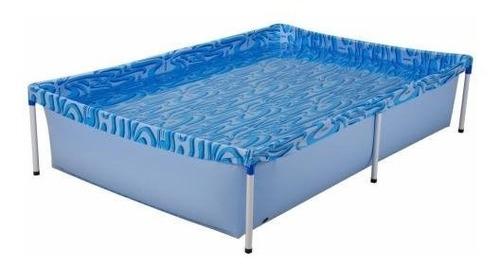 piscina  infantil 1.000 litros + capa + forro  mor lona pvc