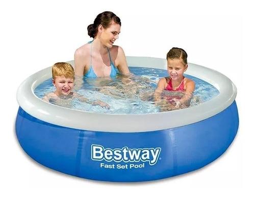piscina infantil 1.400 litros inflável fast set - bestway