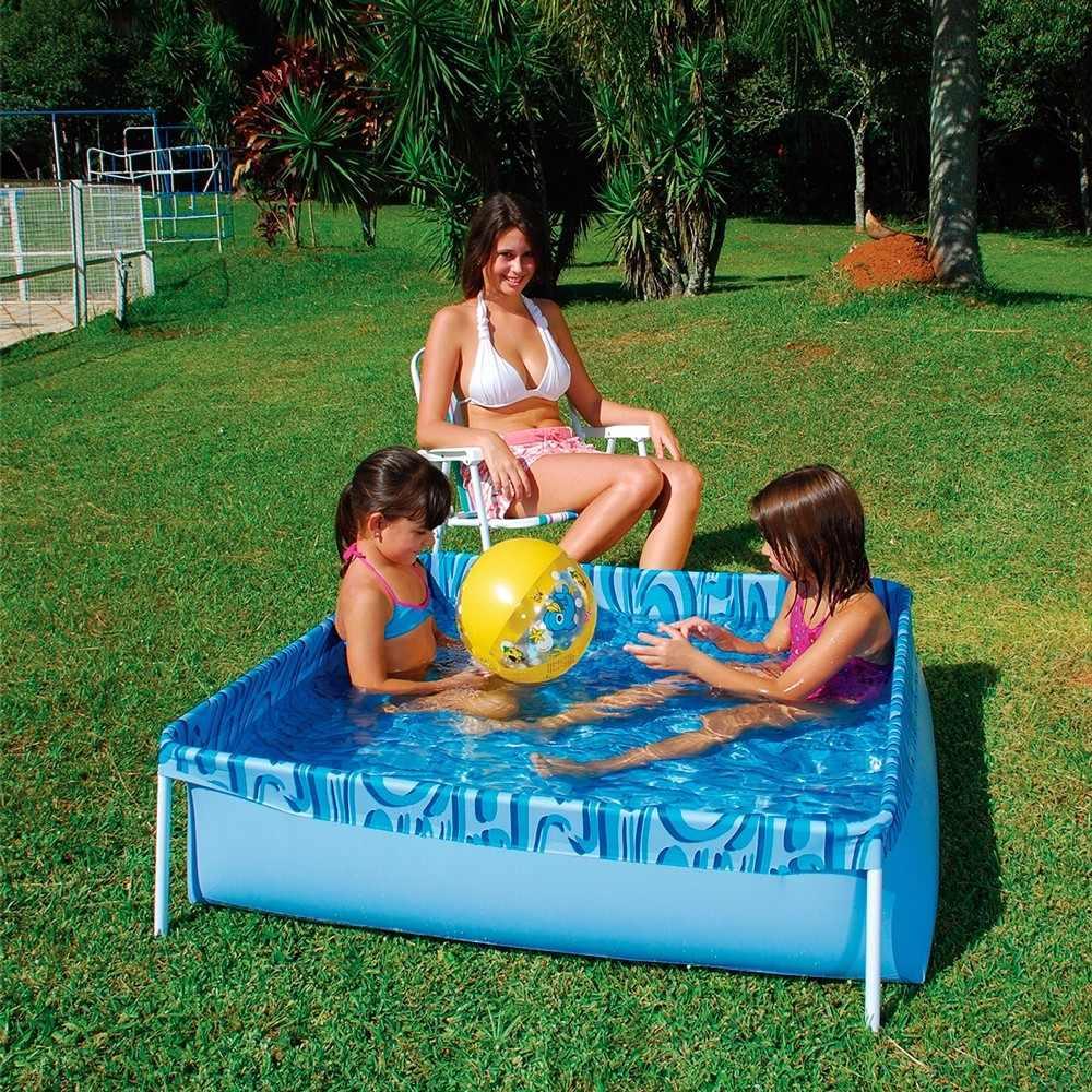 Piscina infantil 400 litros pl stico lona em pvc com for Piscina infantil