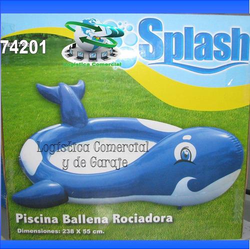 piscina infantil ballena rociadora 74201 bestway 238x55cm