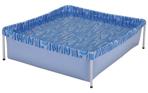 piscina infantil crianças retangular 400 litros lona mor