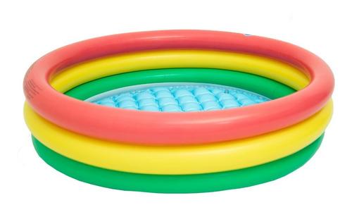 piscina infantil fundo inflavel 126 litros bebe criança