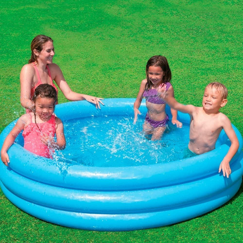 piscina infantil inflable 3 anillos intex niños 168x38cm