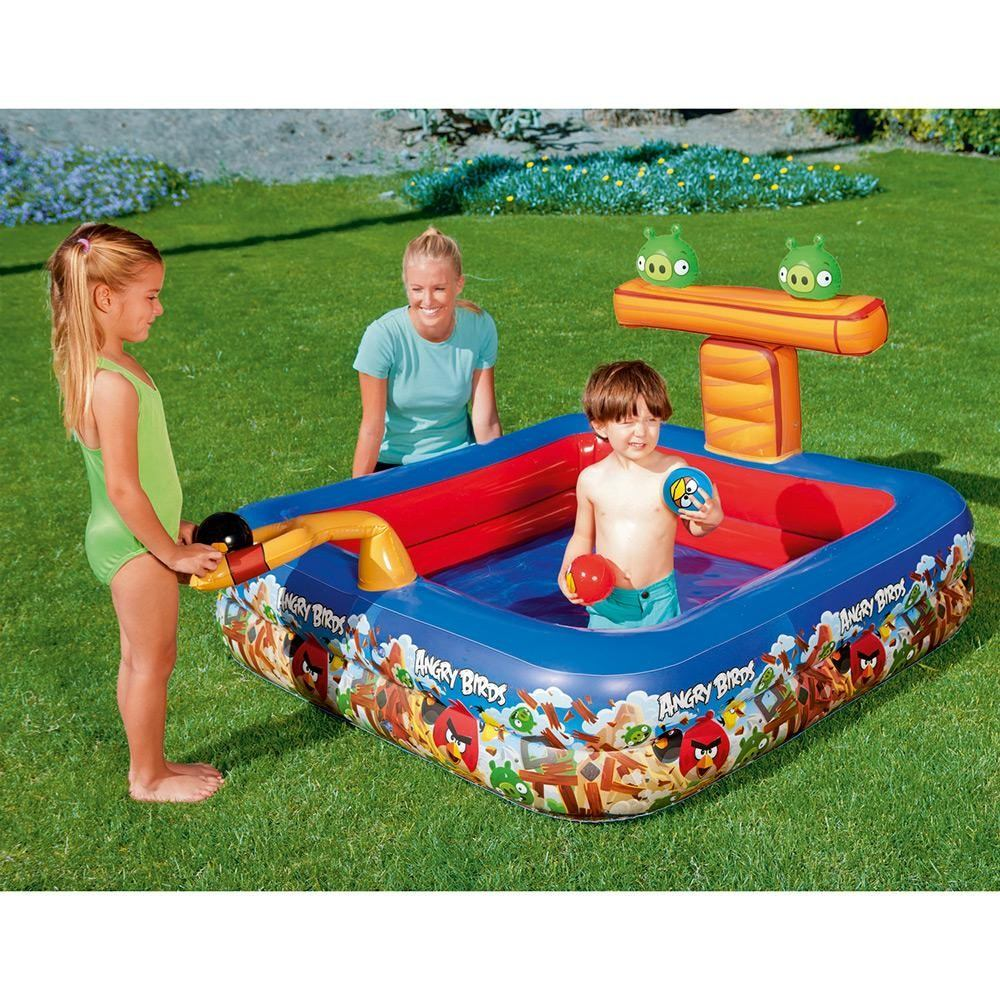 Piscina Infantil Inflavel Angry Birds Interativa Bestway