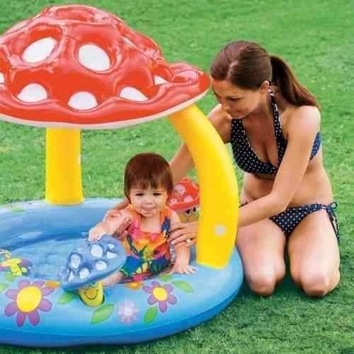 piscina infantil infl vel intex bebes com toldo de