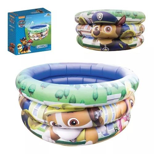 piscina infantil inflável  patrulha canina com 25 bolinhas